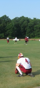 Derrick Frost in holding drills.
