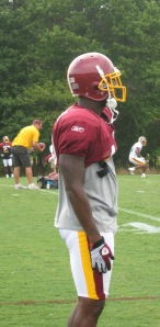 Justin Tryon at practice today.